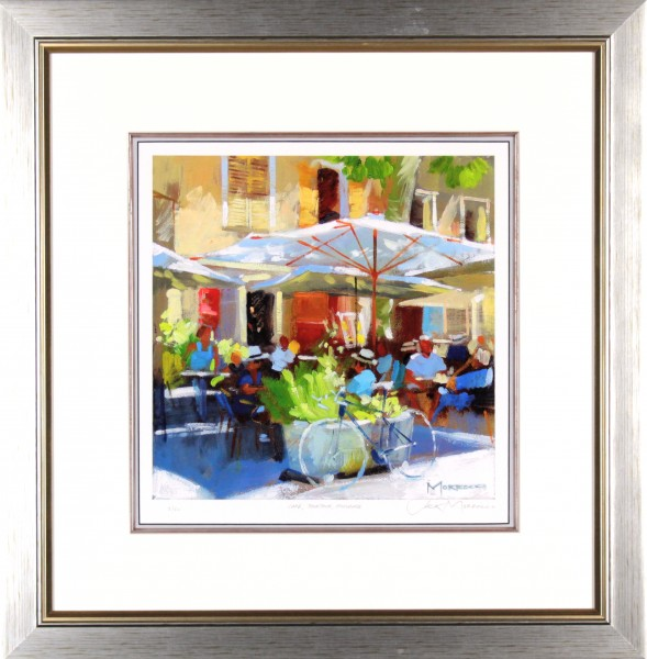 Jack Morrocco_Cafe Tourtour, Provence_23x23 framed.