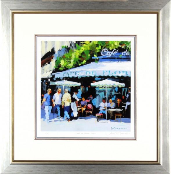 Jack Morrocco_Cafe de Flore, Paris_23x23 framed _ images size 13x13.