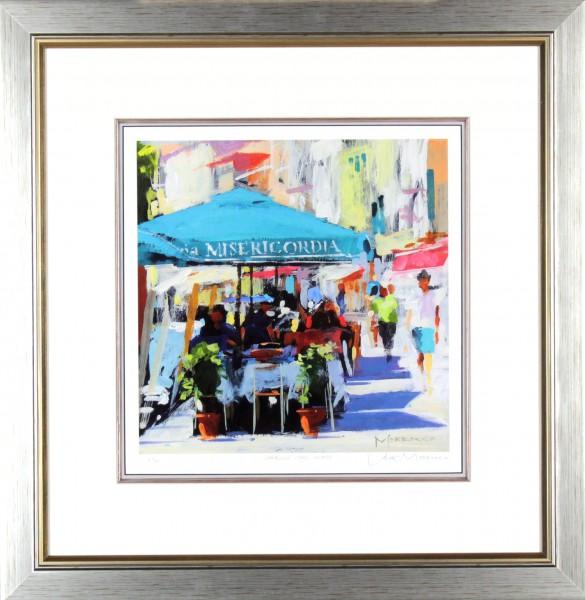 Jack Morrocco_Canalside Cafe, Venice_23x23 framed