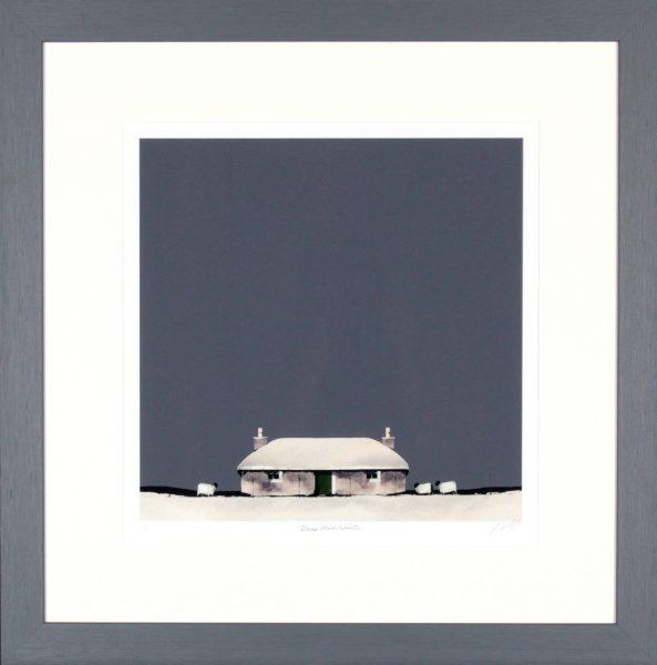 Ron Lawson_Deep Mid Winter_SLE Print_Framed 23.5x23_Image Size 15x14.5