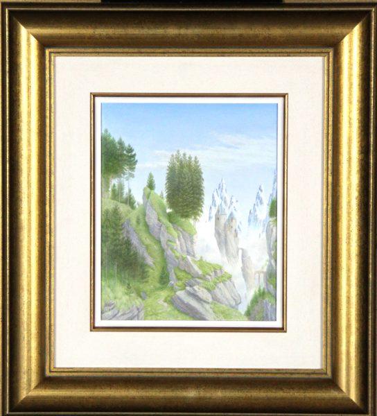 Alister Lindsay_Among Mist Shrowded Peaks_Oils_8.5x7_16.75x15
