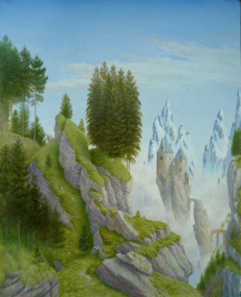 Alister Lindsay_Among Mist-shrouded Peaks_Oils_8.25x6.75