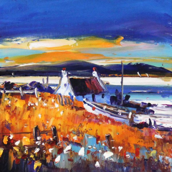Jean Feeney_Boat in the Evening, Islay_7.5x7.5