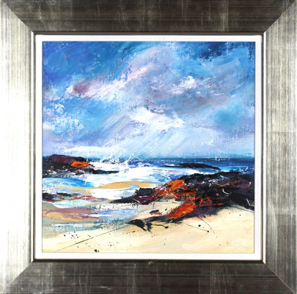 Dronma_Original Oils_Fresh Winds and Rain, Barra_Framed Size 21.5x21.5_Image size 15x15
