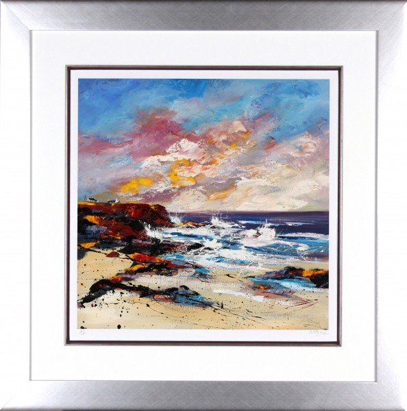 Dronma_Signed Limited Edition Print_Evening Glow_Framed 28.5x28.5_image18.5x18.5
