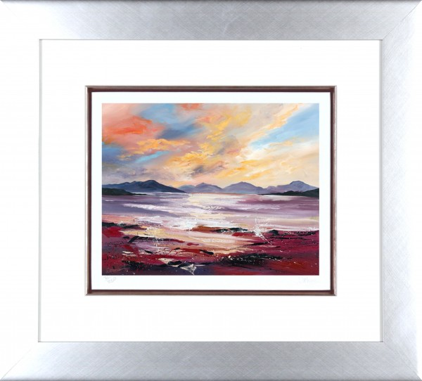 Dronma_Signed Limited Edition Print_Sound of Taransay_framed 21.5x22_image 11x13