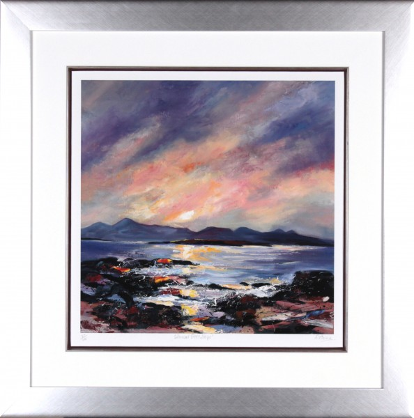 Dronma_Signed Limited Edition Print_Sunset over Sky_Framed 28.5x28.5_image18.5x18.5