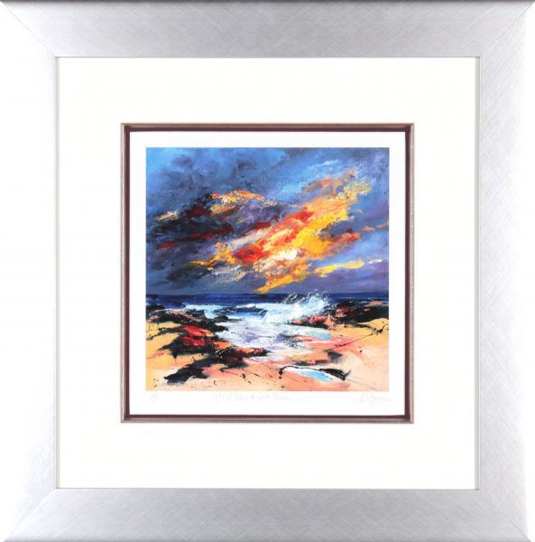 Dronma_Signed Limited Edition Print_Wild Sky and Soft Spray_framed 21x20_image 11x10