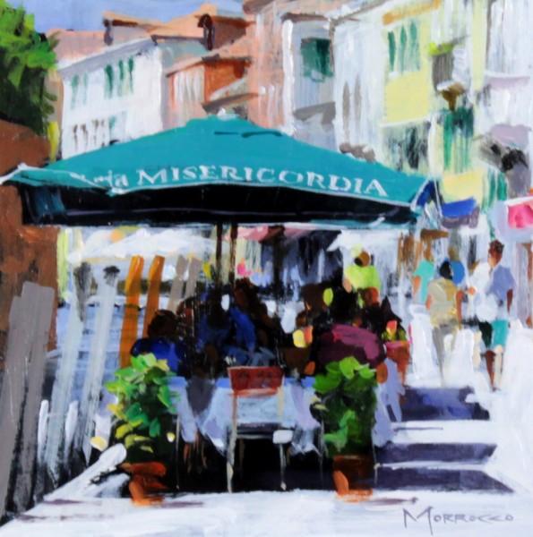 Jack Morrocco_Original Acrylic_Trattoria Misericordia, Venice_8x8