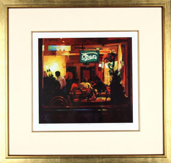 Joe McIntyre_The Red Cafe_23x23.5_Framed Print