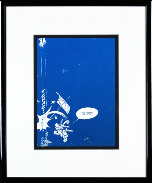 John Patrick Reynolds_Asterix Hits A Roman_15x13_Framed