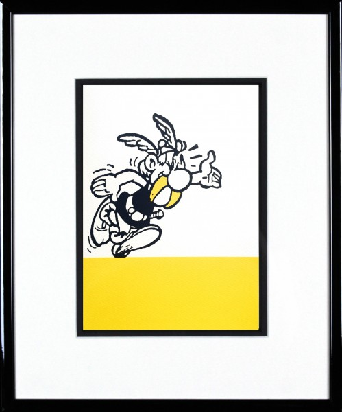 John Patrick Reynolds_Asterix Says Hello_15x13_Framed