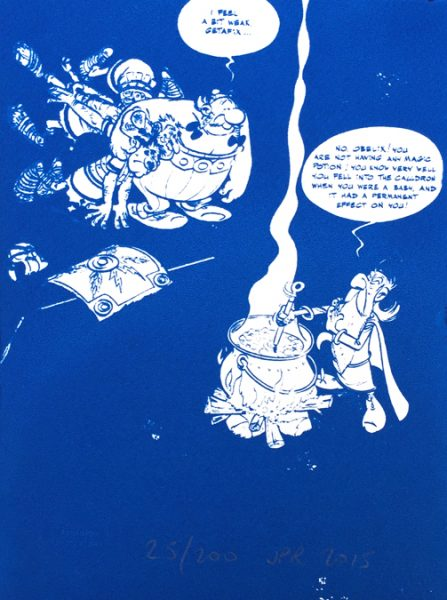 John Patrick Reynolds_Comic Art_Obelix Demands Magic Potion