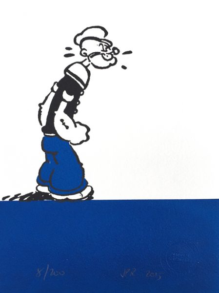 John Patrick Reynolds_Comic Art_Popeye Perplexed