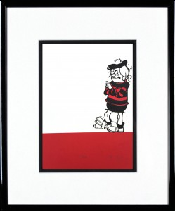 John Patrick Reynolds_Minnie the Minx Taps her Foot_15x13_Framed