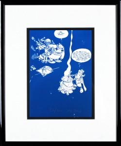 John Patrick Reynolds_Obelix Demands Magic Potion_15x13_Framed