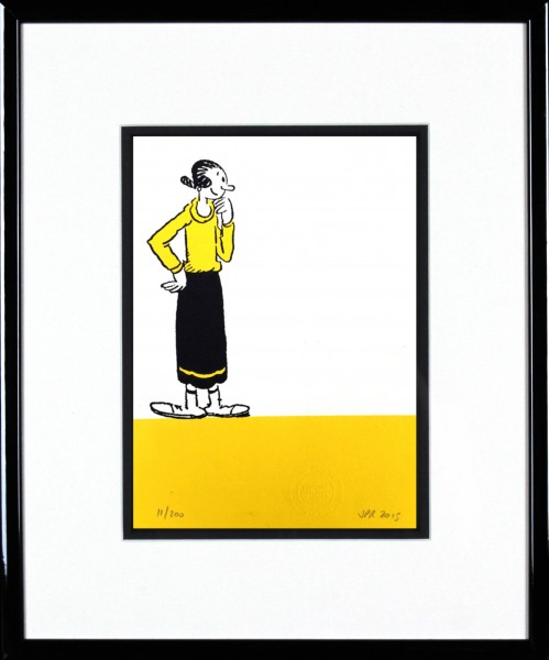 John Patrick Reynolds_Olive Oyl Gazes into Space_15x13_Framed