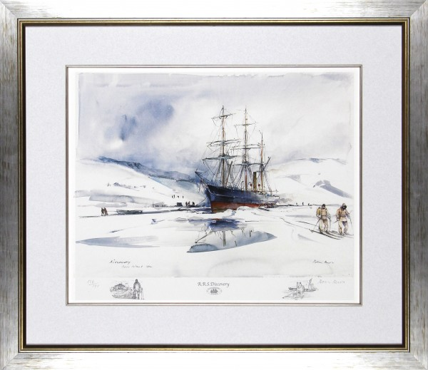 Peter Knox_Discovery, Ross Island_26.5x30.5_Framed Print