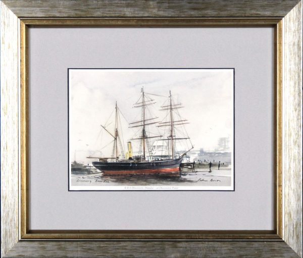 Peter Knox_RSS Discovery, Dundee, at Discovery Point_11x13_Framed Print