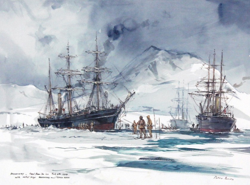Peter Knox_RSS Discovery, Freed From the Ice_11x13