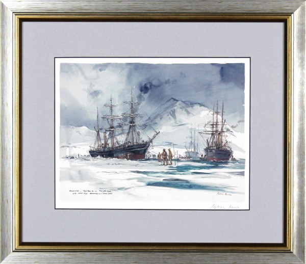 Peter Knox_RSS Discovery, Freed From the Ice_14x16.5_Framed Print
