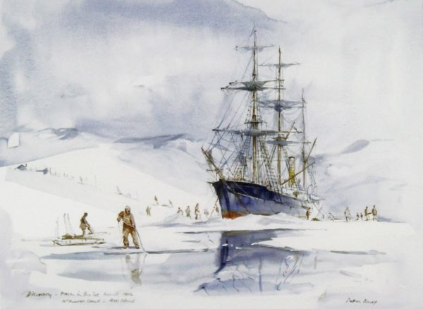 Peter Knox_RSS Discovery Frozen in the Ice, Ross Island_11x13
