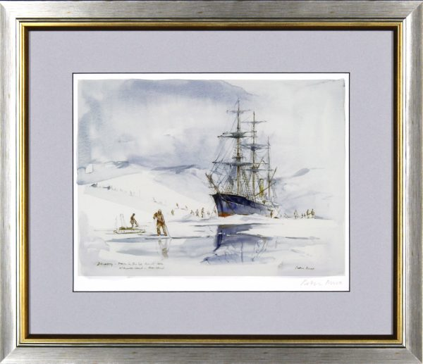 Peter Knox_RSS Discovery Frozen in the Ice, Ross Island_14x16.5_Framed Print
