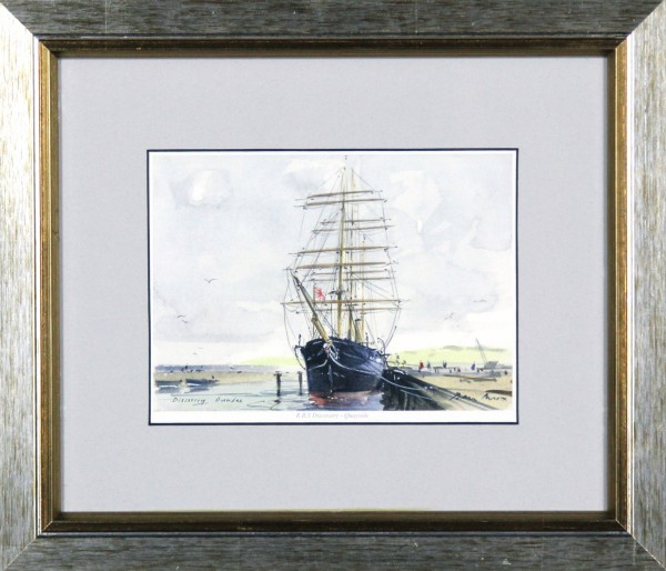 Peter Knox_RSS Discovery, Quayside_11x13_Framed Print