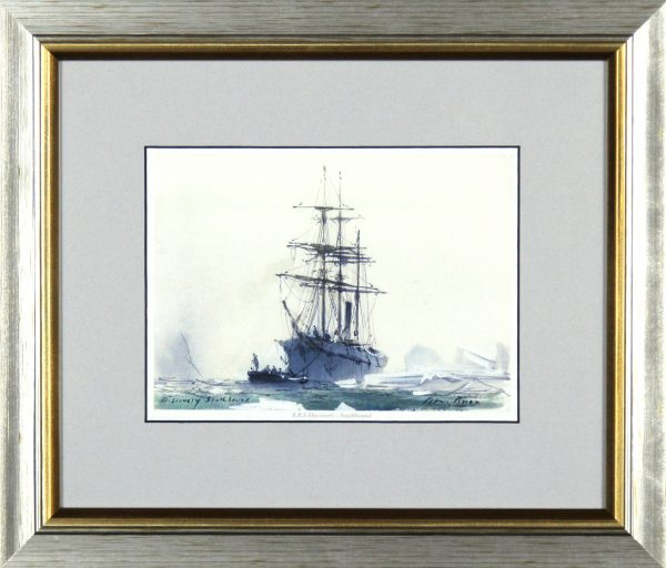 Peter Knox_RSS Discovery, Southbound_11x13_Framed Print