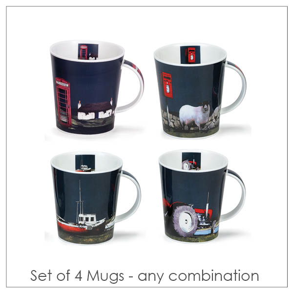 Ron Lawson_Set of Four Mugs