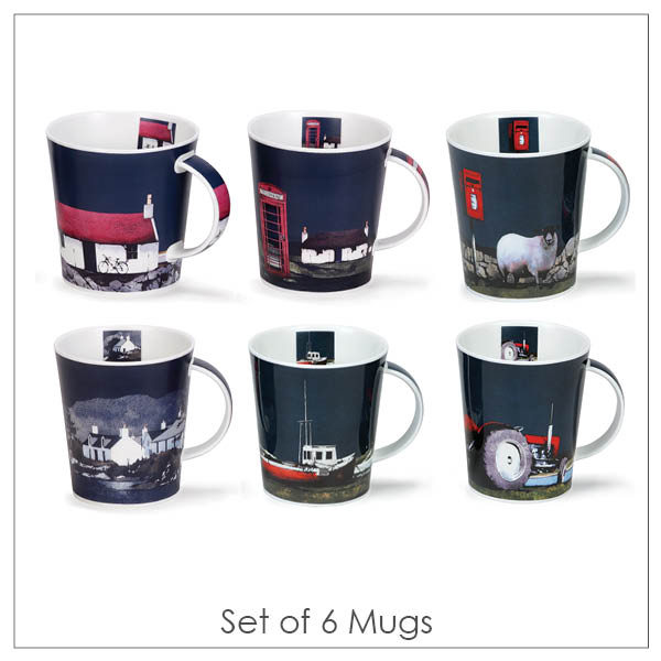 Ron Lawson_Set of Six Mugs