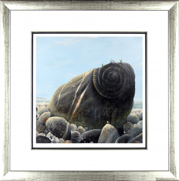 Tracy Savage_Fossil Hunters_28x28_Framed Print
