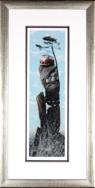 Tracy Savage_Gone Surfing_Framed Print 35x18_image size 24.5x7.5