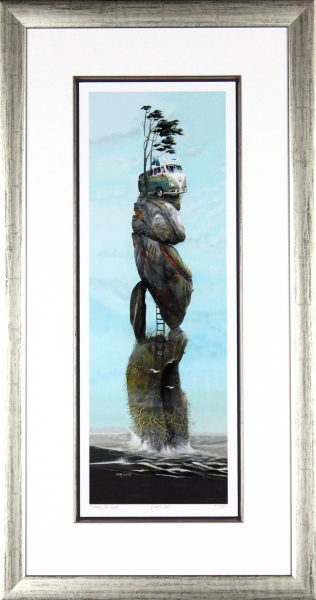 Tracy Savage_Surfs Up_34.5x18_Framed Print