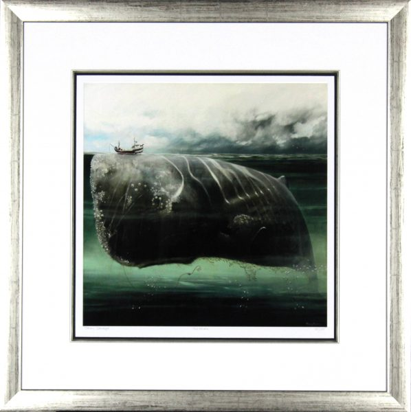 Tracy Savage_The Whale_28x28_Framed Print