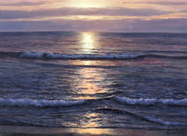 Alfredo Novarro_Sunset I_Oils_ Image 9x12.5