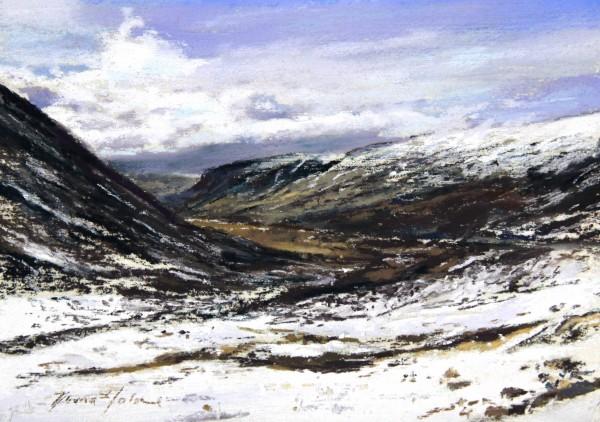 Fiona Haldane_Morning Snow, Glenshee_Pastel_5x7
