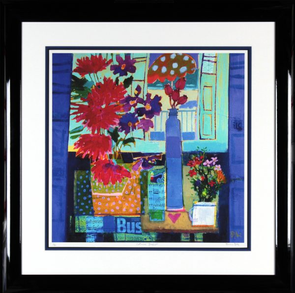 Francis Boag_Catherine's Bouquet_Signed Limited Edition Print Giclee_Framed 35x35_Image 23x23