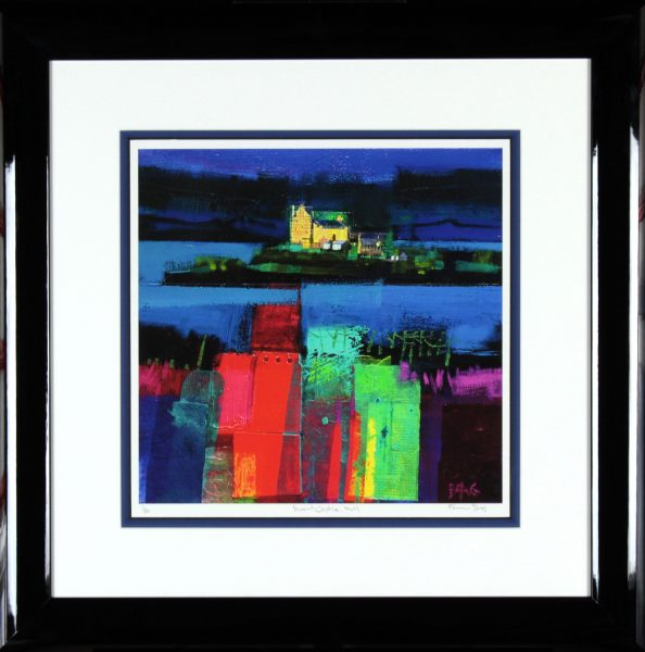 Francis Boag_Duart Castle Mull_Signed Limited Edition Print Giclee_Framed 27x27_Image 15x15