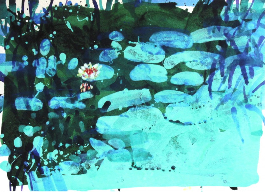 Francis Boag_Giverny Jade_Signed Limited Edition Print Giclee_Image 17x23
