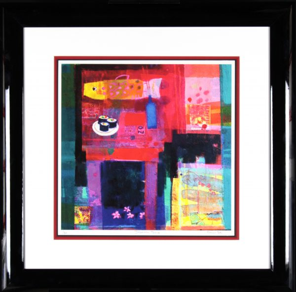 Francis Boag_Japanese Table_Signed Limited Edition Print Giclee_Framed 29x29_Image 17x17