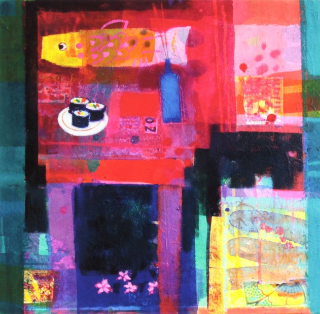 Francis Boag_Japanese Table_Signed Limited Edition Print Giclee_Image 17x17