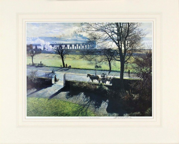 James Mcintosh Patrick Tay Bridge From My studio Mounted, Signed