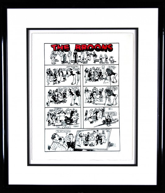 John Patrick Reynolds_Broons first strip_Signed Limited Edition Print__Framed