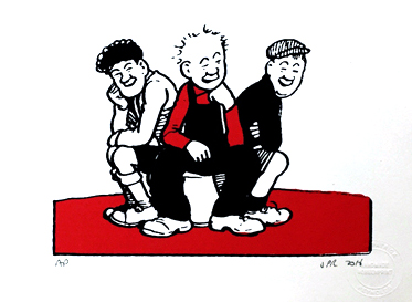 Oor Wullie on bucket with his Pals