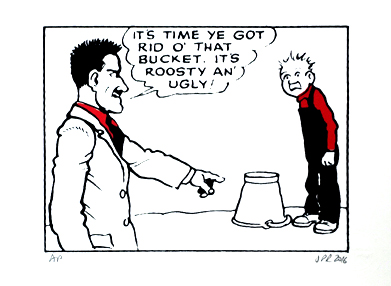 Oor Wullie with his Father