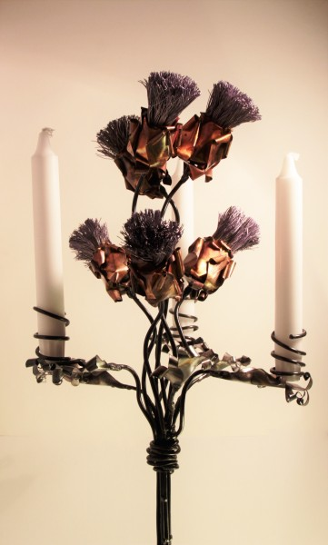 Six Copper Thistle Candelabra_399_34 c4