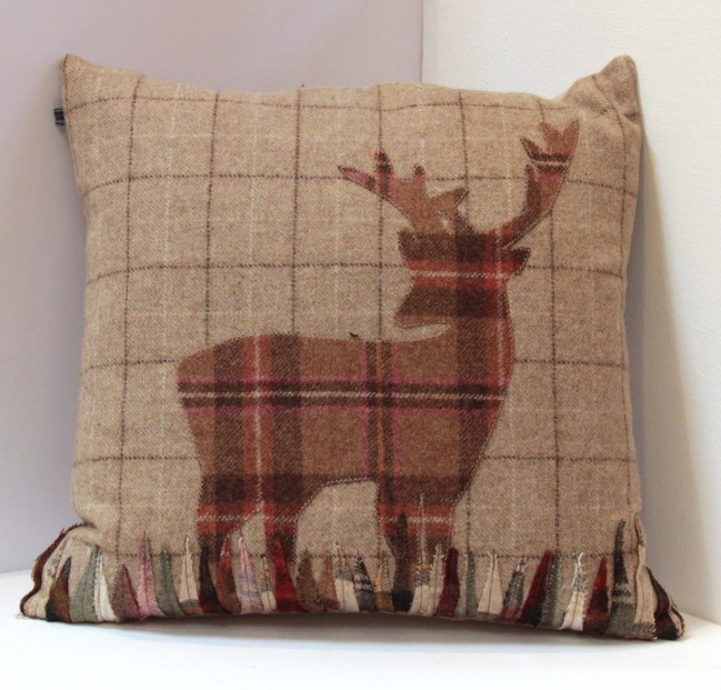stag tweed cushion
