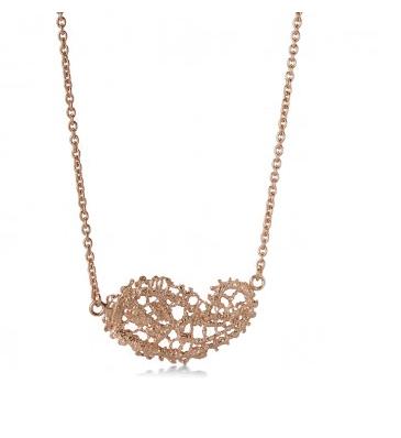 I love a lassie_Antique lace_Paisley necklace_Rose Gold Vermeil
