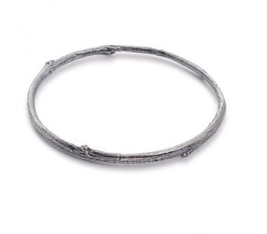 I love a lassie_Birds nest_Twig Bangle_Black Rhodium_175